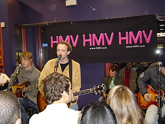 Travis (band) - Travis performing live at an HMV store in Toronto, 2003