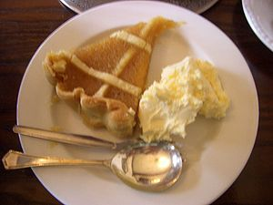 Treacle Tart with clotted cream.jpg