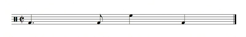 File:Tresillo and backbeat shown in two different pitches..tiff