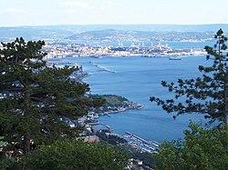 Trieste vista da Monte Grisa