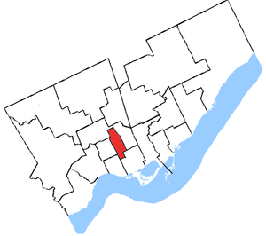 Trinity (electoral district) - Trinity's boundaries from 1966 to 1976