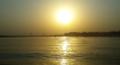 Triveni sangam sunset time Allahabad.png