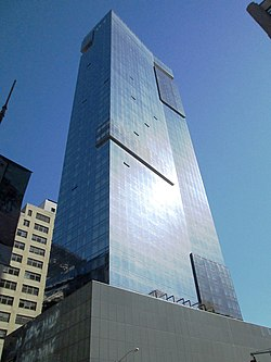 Trump SoHo tower from Varick Street.jpg