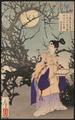 Tsukioka Yoshitoshi (188?) Tsuki hyaku shi - Sugawara no Michizane.png