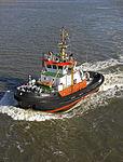 Tugboat (Bugsier 3) in the Port of Bremerhavan (2009).jpg