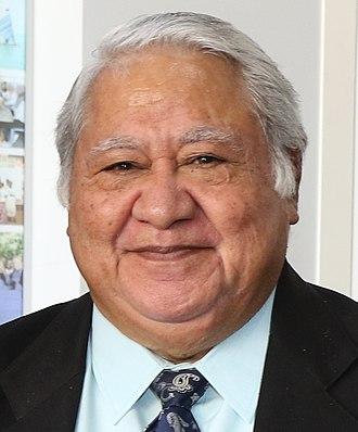 Prime Minister of Samoa - Image: Tuilaepa Aiono Sailele Malielegaoi 2018