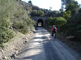 Puerto Serrano - Image: Tunel Via Verde