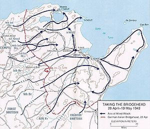 Battle of Longstop Hill (1943) - Tunisia Campaign operations 20 April to 13 May 1943
