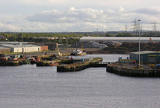 Tyne Dock - Tyne Dock viewed from a departing ferry