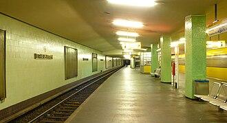 Birkenstraße (Berlin U-Bahn) - Platform of the station