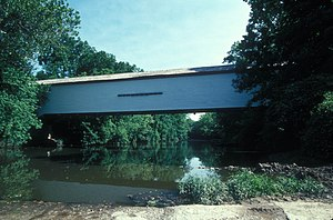 National Register of Historic Places listings in Monroe County, Missouri - Image: UNION COVERED BRIDGE