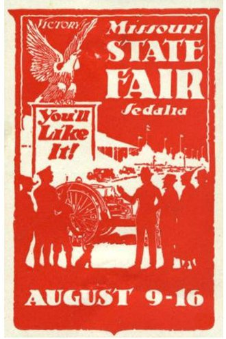 Sedalia, Missouri - Poster stamp for the Missouri State Fair, c.1930.