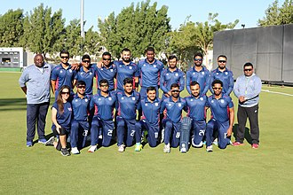 United States national cricket team - The United States of America Men's National Cricket Squad pictured on their tour of the Middle East where they played against Oman, Nepal and Kenya in December 2017.