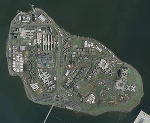 Rikers Island - Detailed aerial photo of the jail complex