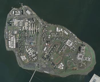 English: Orthophoto of Rikers Island.