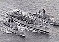 USS Camden (AOE-2) refuels USS Halsey (DLG-23) and USS Wainwright (CG-28) 1970.jpg