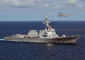 USS Chafee - Chafee in the Pacific Ocean, 2005