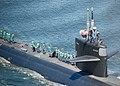 USS Dallas gets underway from Naval Submarine Base New London. (8721187756).jpg