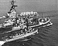 USS Hornet (CVS-12) underway with USS Taluga (AO-62) and USS Walker (DD-517), in 1967.jpg