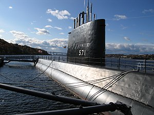 Groton, Connecticut - USS Nautilus moored in Groton at the Submarine Force Museum