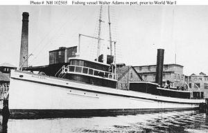 USS Walter Adams (SP-400) as civilian trawler