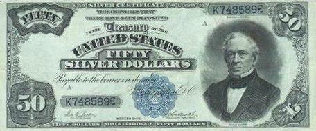 US $50 1891 Silver Certificate