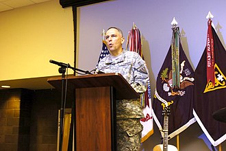 3rd Medical Command (Deployment Support) - Maj. Gen. Dean Sienko, commander, 3rd Medical Command Deployment Support (MDSC) at the Fort Gillem Patriot Day Ceremony 11 Sept.