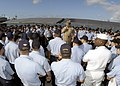 US Navy 030424-N-0715P-012 Master Chief Petty Officer of the Navy (MCPON) Terry Scott, speaks with submariners homeported in Pearl Harbor during a scheduled trip to the island of Oahu.jpg
