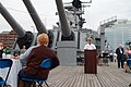 US Navy 050601-N-0962S-056 Chief of Naval Operations (CNO) Adm. Vern Clark speaks to members of the Navy League aboard the battleship USS Wisconsin (BB 64) in Norfolk, Va.jpg