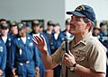 US Navy 050806-N-0962S-232 Master Chief Petty Officer of the Navy (MCPON) Terry Scott speaks to U.S. Navy Sailors and U.S. Coast Guardsmen during an all hands call.jpg
