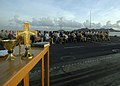 US Navy 060416-N-9630B-025 Sailors and guests from Saint Maarten attend Easter sunrise service on the flight deck aboard the Nimitz-class aircraft carrier USS George Washington (CVN 73).jpg