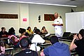 US Navy 060612-N-8110K-034 Deputy Commander, Ship Design, Integration and Engineering, Naval Sea Systems Command, Rear Adm. Kevin McCoy, talks to Navy and Marine Corps Junior ROTC students.jpg