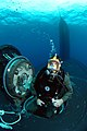 US Navy 071026-N-3093M-046 A Navy diver from Naval Special Warfare Logistics Support conducts Lock Out Training with the nuclear-powered fast-attack submarine USS Hawaii (SSN 776) for material certification.jpg