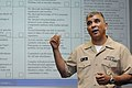 US Navy 080507-N-9818V-466 Master Chief Petty Officer of the Navy (MCPON) Joe R. Campa Jr. introduces the E7-E9 Evaluation and Counseling Record (CHIEFEVAL).jpg