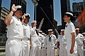 US Navy 090519-N-8102J-012 Saiolors take the oath of re-enlisment at the site of the World Trade Center.jpg