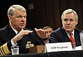 US Navy 090604-N-8273J-036 Chief of Naval Operations (CNO) Adm. Gary Roughead, left, and Secretary of the Navy (SECNAV) the Honorable Ray Mabus testify before the Senate Armed Services Committee.jpg