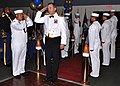 US Navy 091010-N-7764M-017 Rear Adm. Tom Copeman, Commander of Joint Task Force Guantanamo, arrives at the U.S. Naval Station Guantanamo Bay Navy ball.jpg