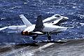US Navy 100310-N-3038W-452 An F-A-18C Hornet launches from USS Nimitz (CVN 68).jpg