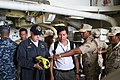 US Navy 101204-N-4780J-096 Chief Engineman Jason Vannoy discusses the use of the Naval Firefighting Thermal Imager (NFTI), an infrared camera used.jpg