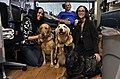 US Navy 111205-N-RE933-019 Army Pfc. Derek McConnell and his family pet therapy dogs.jpg