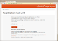 Ubuntu One-Registration mail sent.png