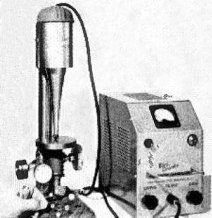 Ultrasonic machining - An ultrasonic drill from 1955
