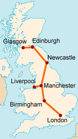 UK Ultraspeed - Map of the proposed line