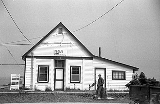 AT&T Alascom - Alascom (then owned by RCA) building in Unalaska in August 1972.  As with much of rural Alaska in the 1970s, this building contained the community's only telephone at the time.