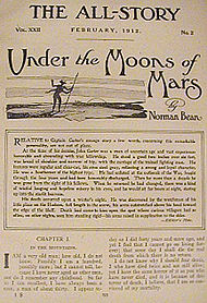 """Under the Moons of Mars"" в списание ""The All-Story"" през 1912 г."