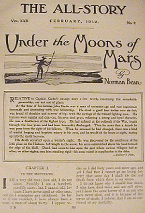 "A Princess of Mars - The original publication of ""Under the Moons of Mars"" in The All-Story, February 1912"