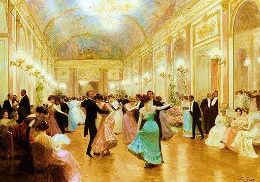 Une soirée élégante par Victor Gabriel Gilbert (A)