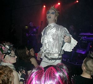 Whitby Goth Weekend - Uninvited Guest on stage at Whitby Goth Weekend, October 2006