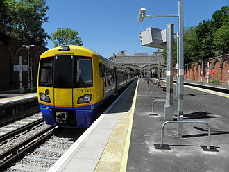 East London line extension - A London Overground train at Crystal Palace