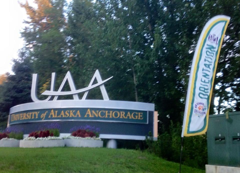 University of Alaska Anchorage entrance sign